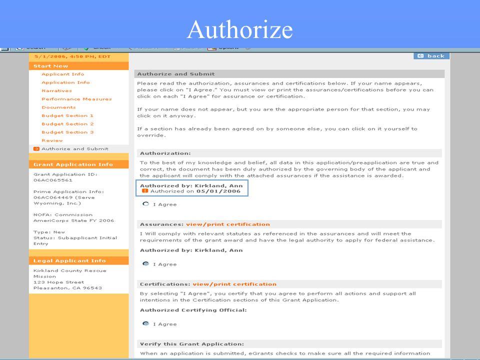 47 Authorize