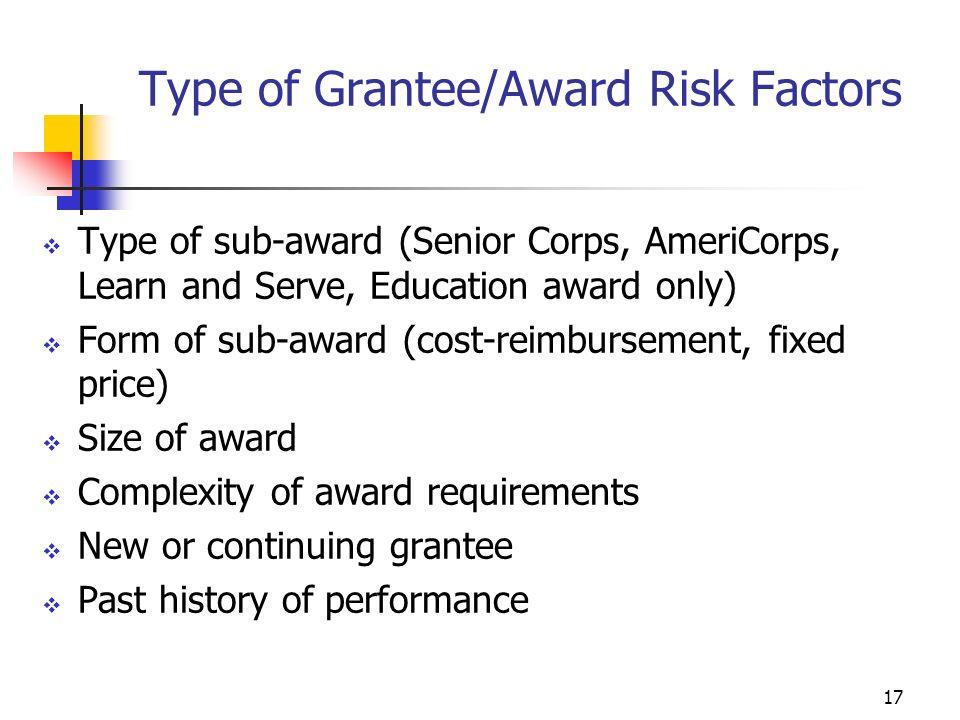 16 AmeriCorps Member Records Risk Factors Member turnover Member recruitment History Full time vs. part time vs. fellows vs. Education Award only