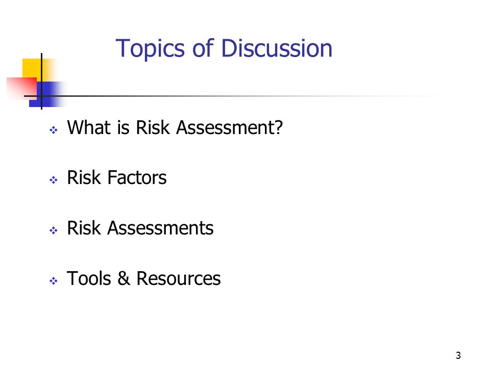2 Session Objectives Increase participant understanding of effective financial monitoring based upon risk assessments of sub-grantees Increase participant knowledge of sub-grantees risk assessment using appropriate practices, procedures and controls Discuss and review elements of implementing risk- assessed monitoring strategies