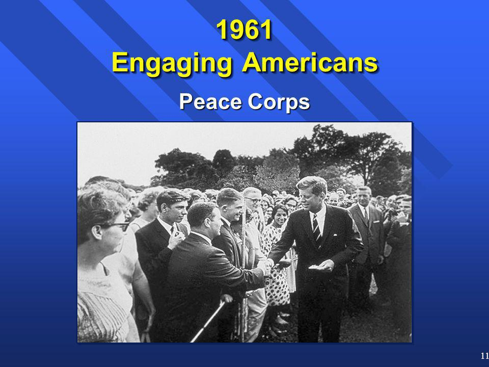11 Peace Corps 1961 Engaging Americans