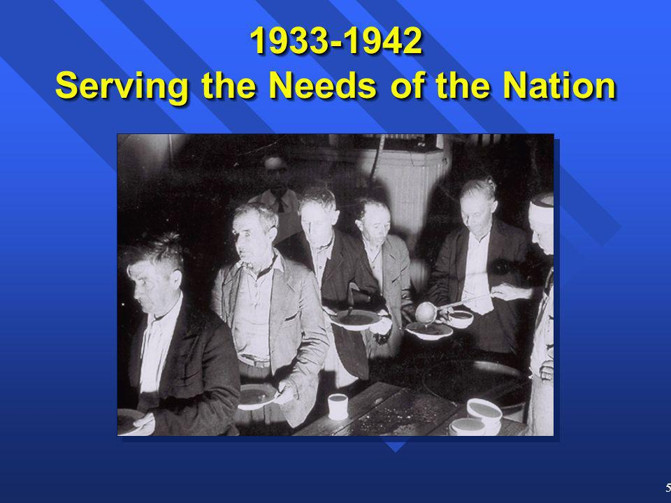 5 1933-1942 Serving the Needs of the Nation