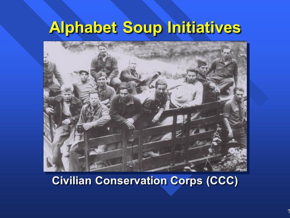 7 Alphabet Soup Initiatives Civilian Conservation Corps (CCC)