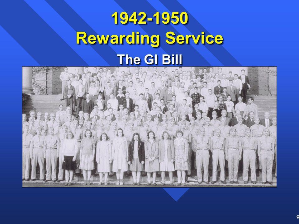 9 The GI Bill 1942-1950 Rewarding Service