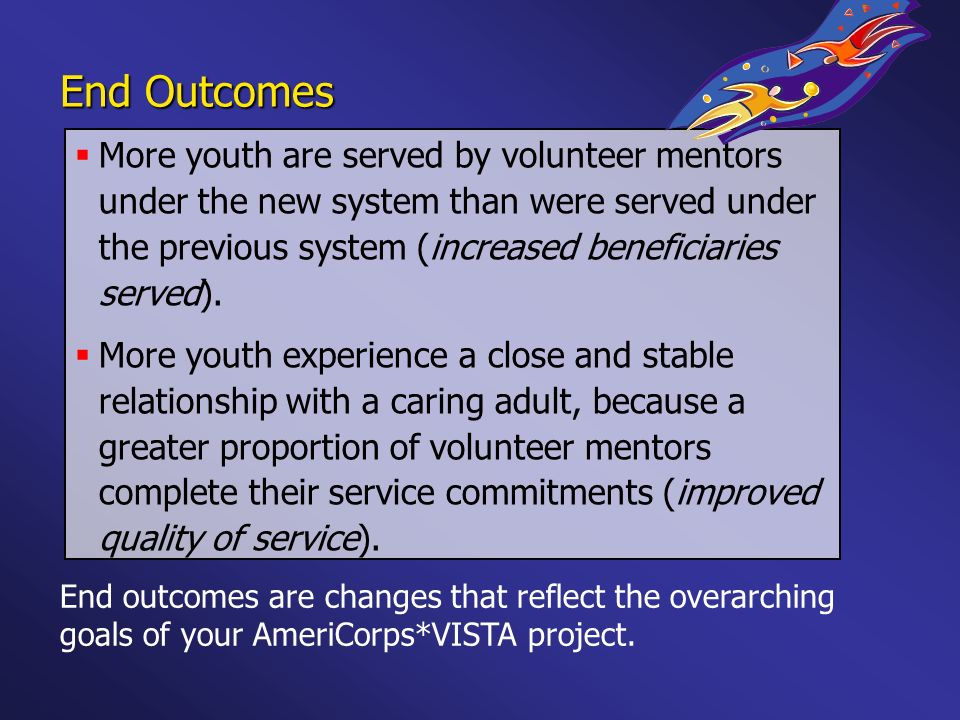 More youth are served by volunteer mentors under the new system than were served under the previous system (increased beneficiaries served). More yout