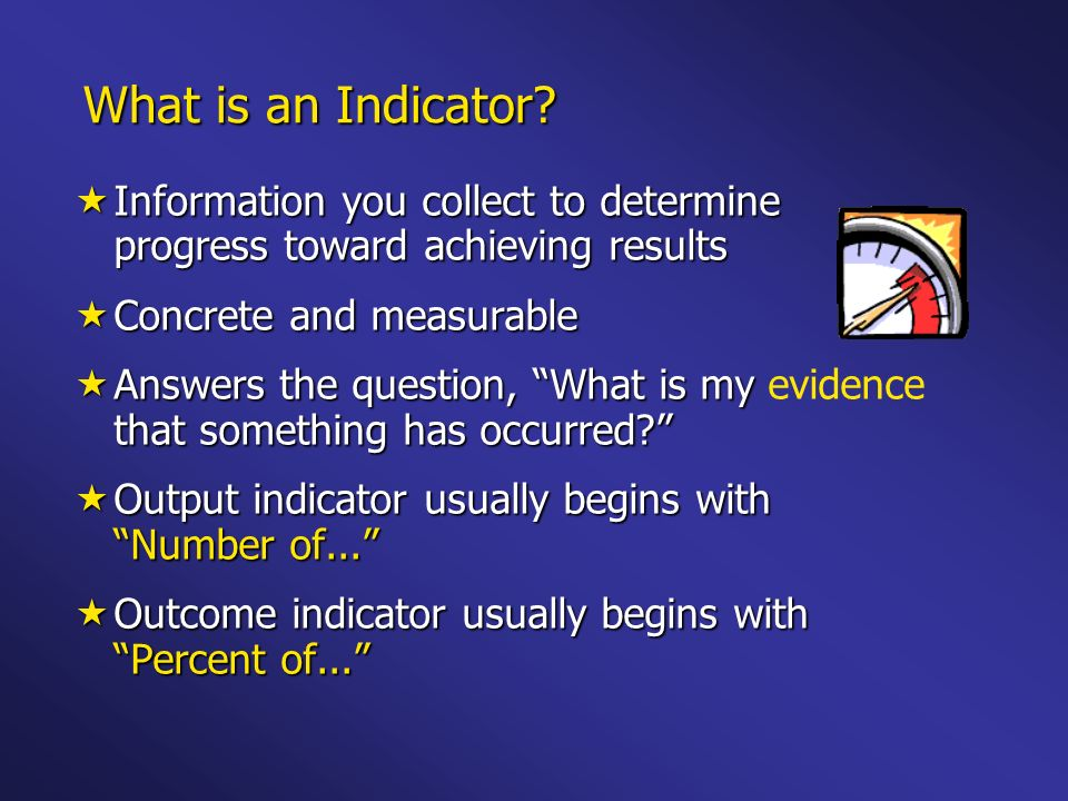 What is an Indicator.