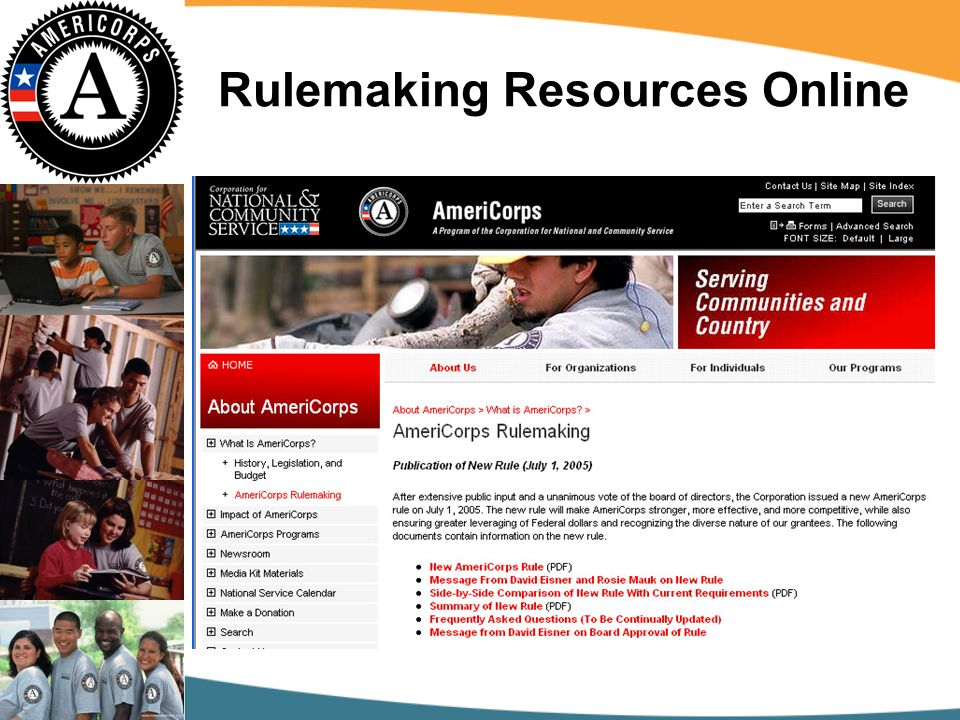 Rulemaking Resources Online