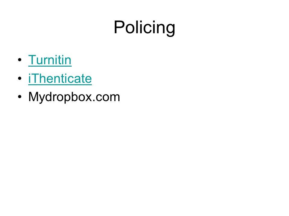 Policing Turnitin iThenticate Mydropbox.com