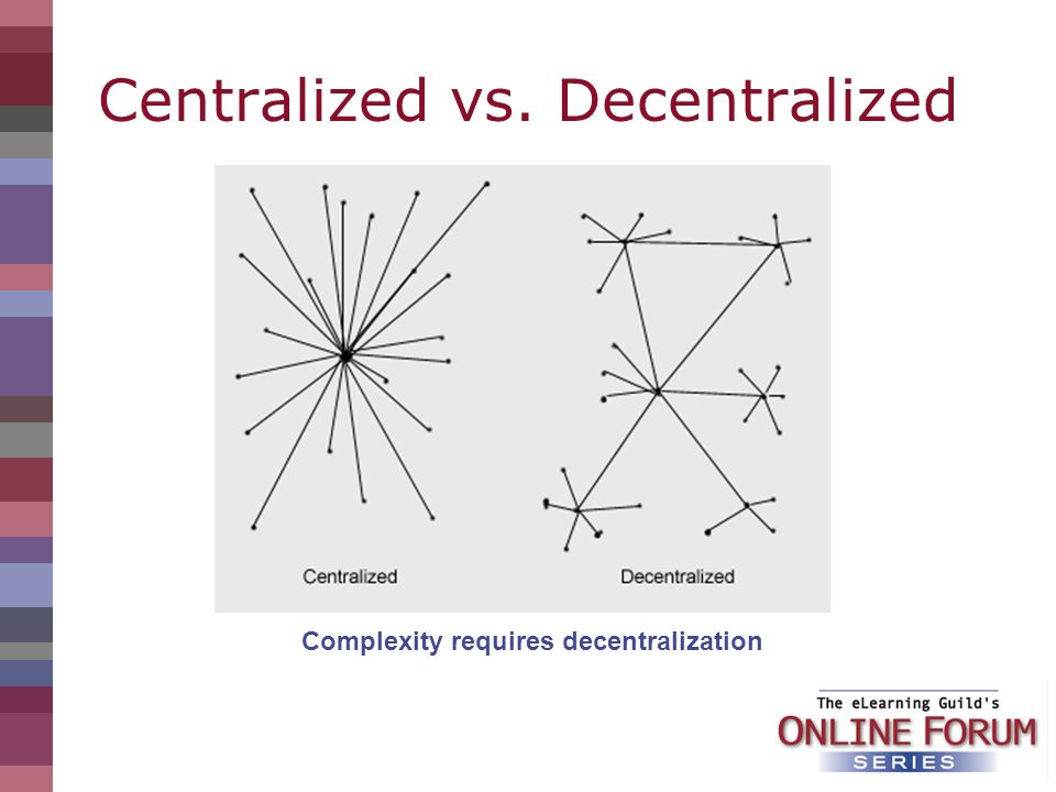 Centralized vs. Decentralized Complexity requires decentralization