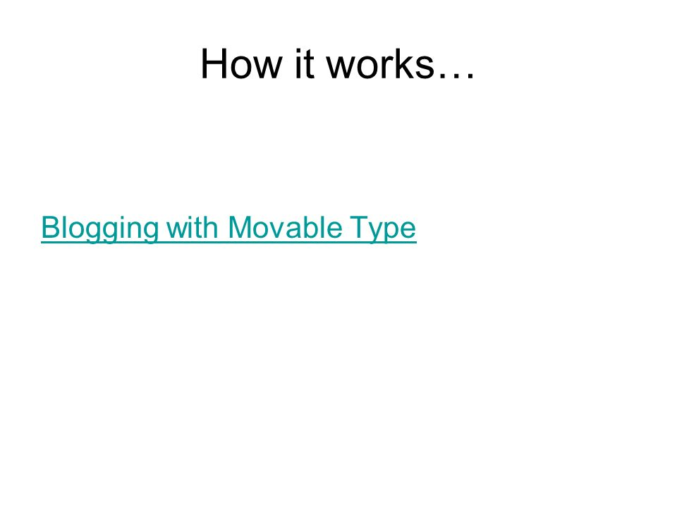 How it works… Blogging with Movable Type