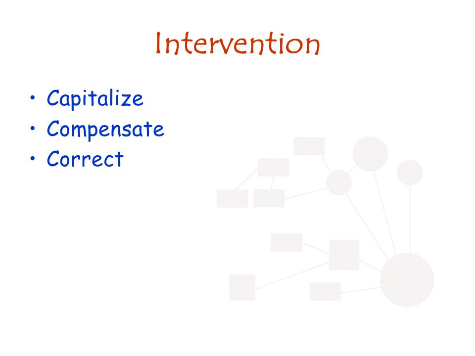Intervention Capitalize Compensate Correct