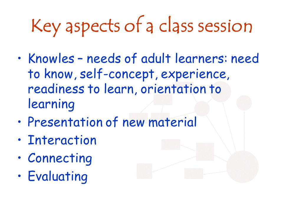 Creating a lesson plan Key aspects: –Topic and overview –Time –Materials –Objectives –Relation to existing course content