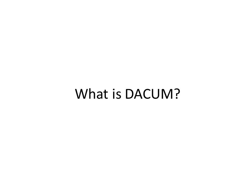 What is DACUM