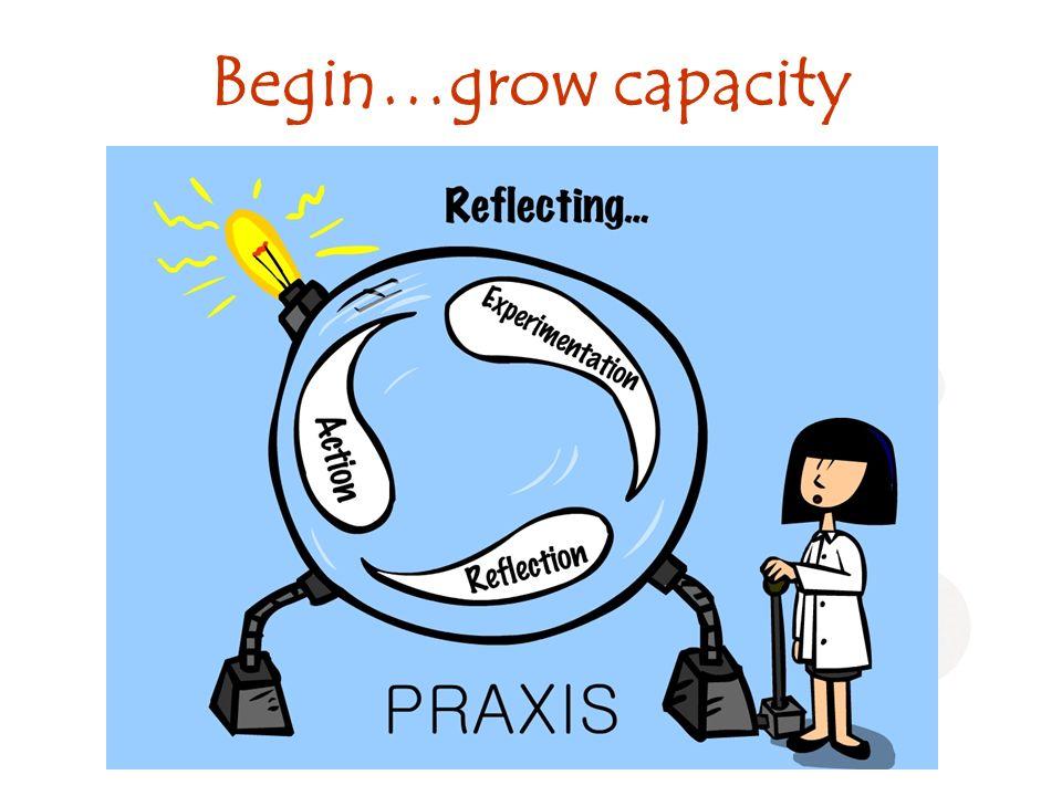 Begin…grow capacity