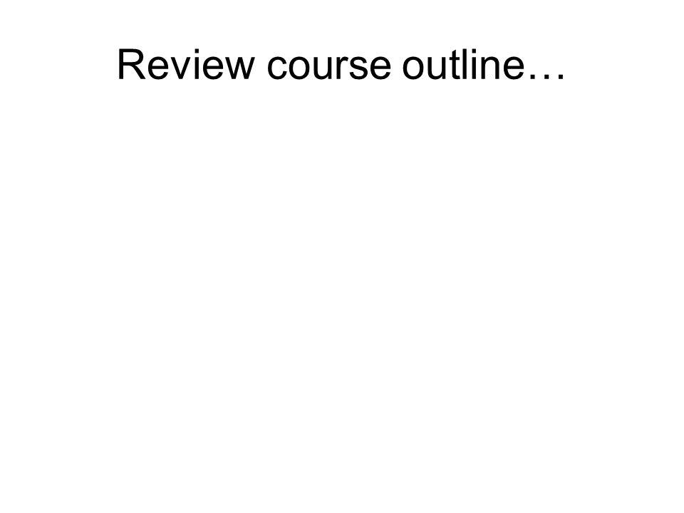 Review course outline…