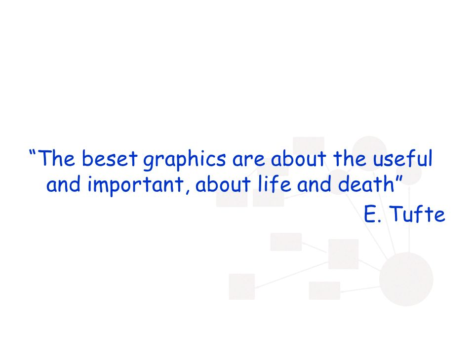 The beset graphics are about the useful and important, about life and death E. Tufte