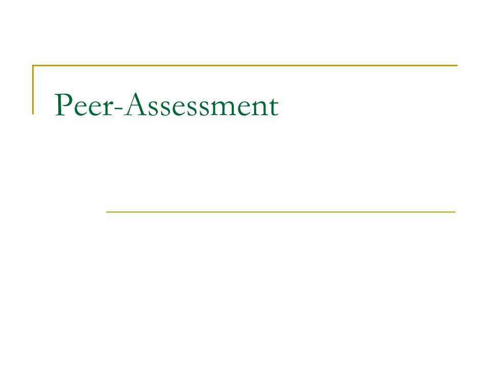 Peer-Assessment
