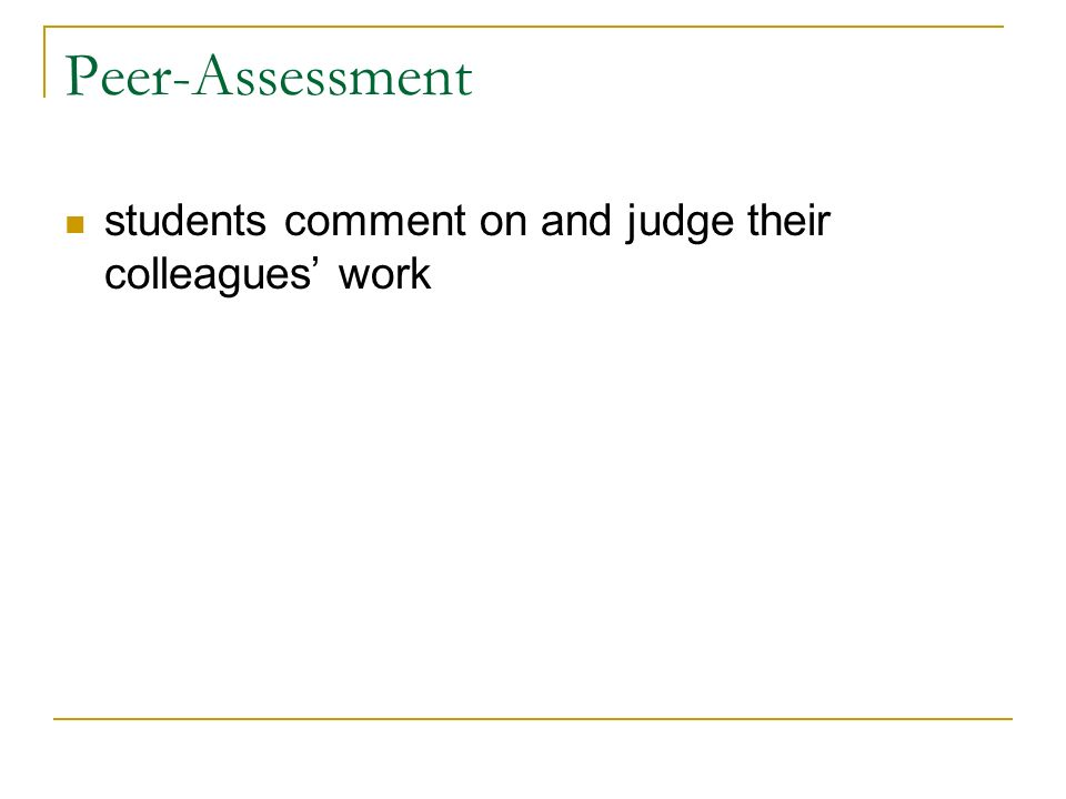 students comment on and judge their colleagues work