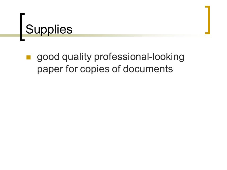 Supplies good quality professional-looking paper for copies of documents