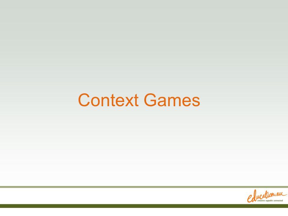 Context Games