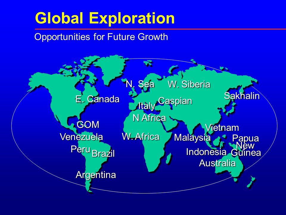 Opportunities for Future Growth Venezuela E. Canada W.