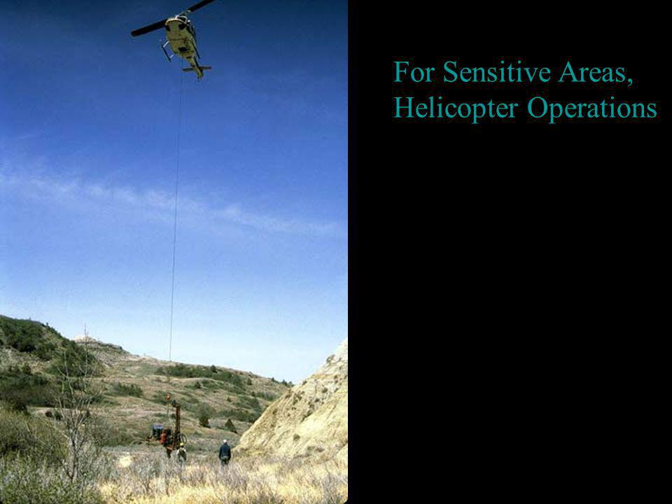 For Sensitive Areas, Helicopter Operations