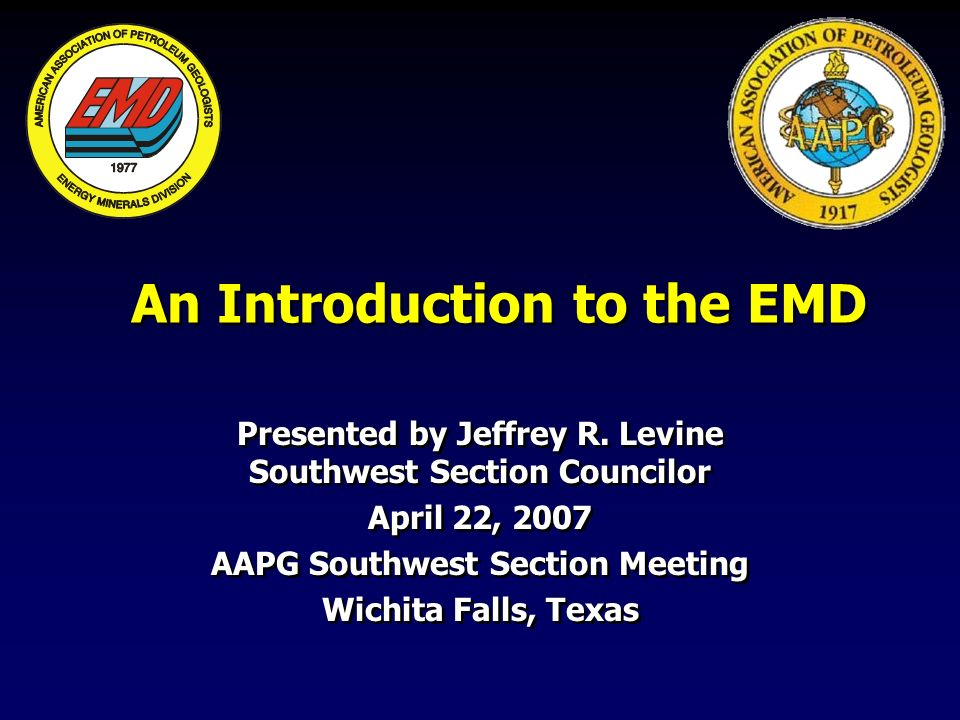 An Introduction to the EMD Presented by Jeffrey R.