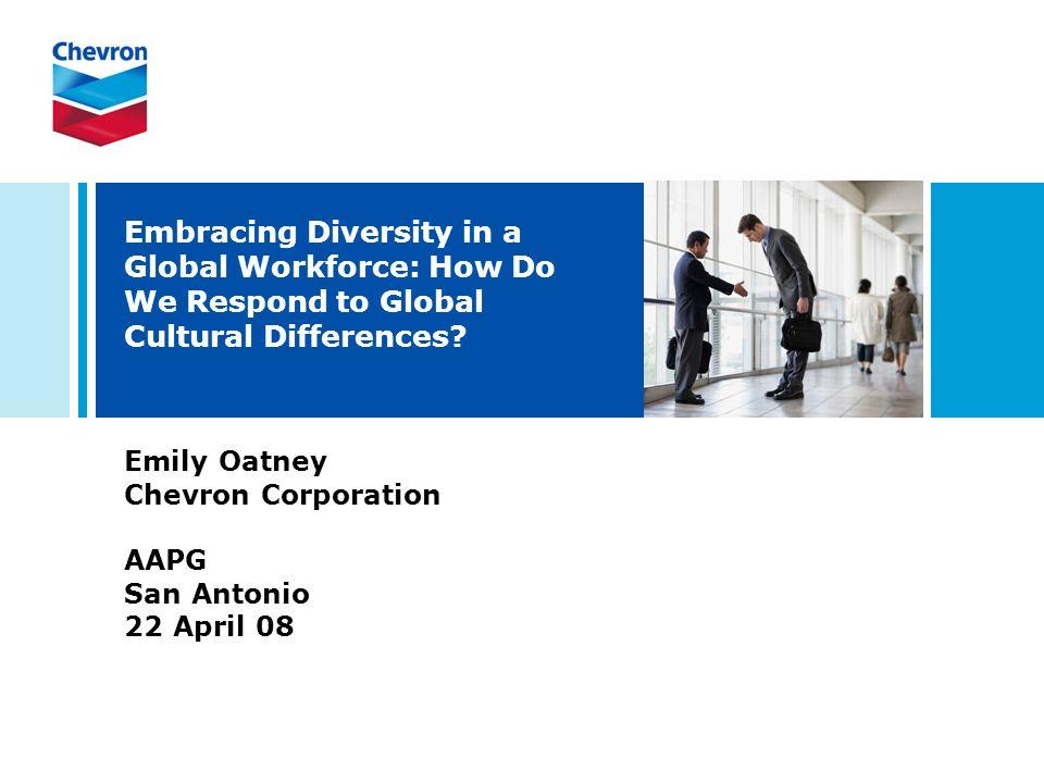 Embracing Diversity in a Global Workforce: How Do We Respond to Global Cultural Differences.