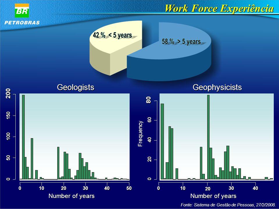 Work Force Experiência Fonte: Sistema de Gestão de Pessoas, 27/2/2008.