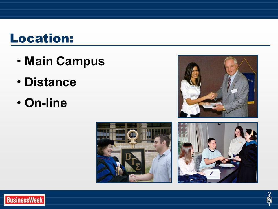 Location: Main Campus Distance On-line