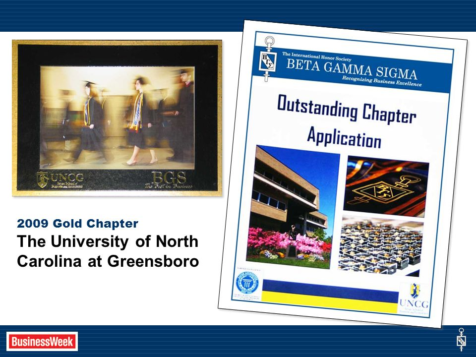 2009 Gold Chapter The University of North Carolina at Greensboro
