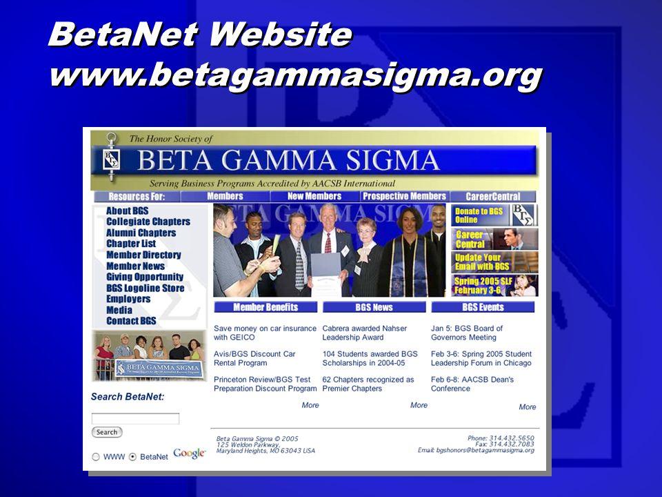 BetaNet Website www.betagammasigma.org