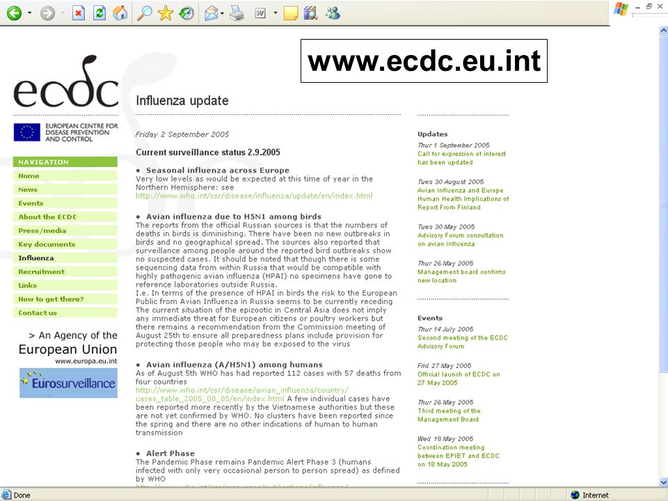 www.ecdc.eu.int