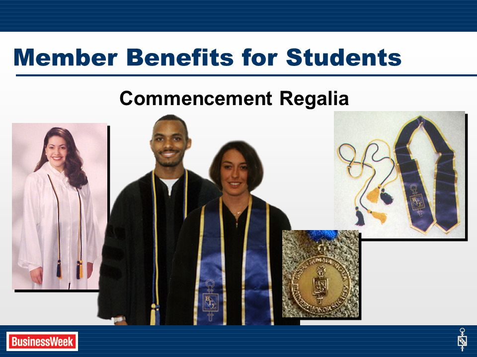 Commencement Regalia Member Benefits for Students