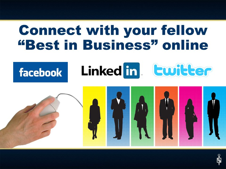 Connect with your fellow Best in Business online