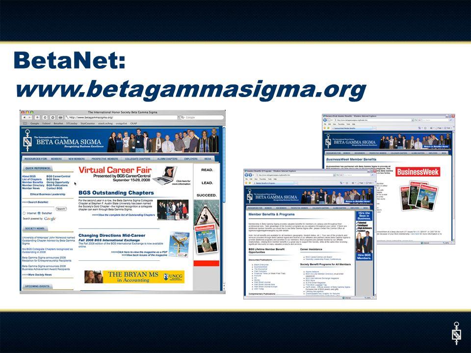 BetaNet: www.betagammasigma.org