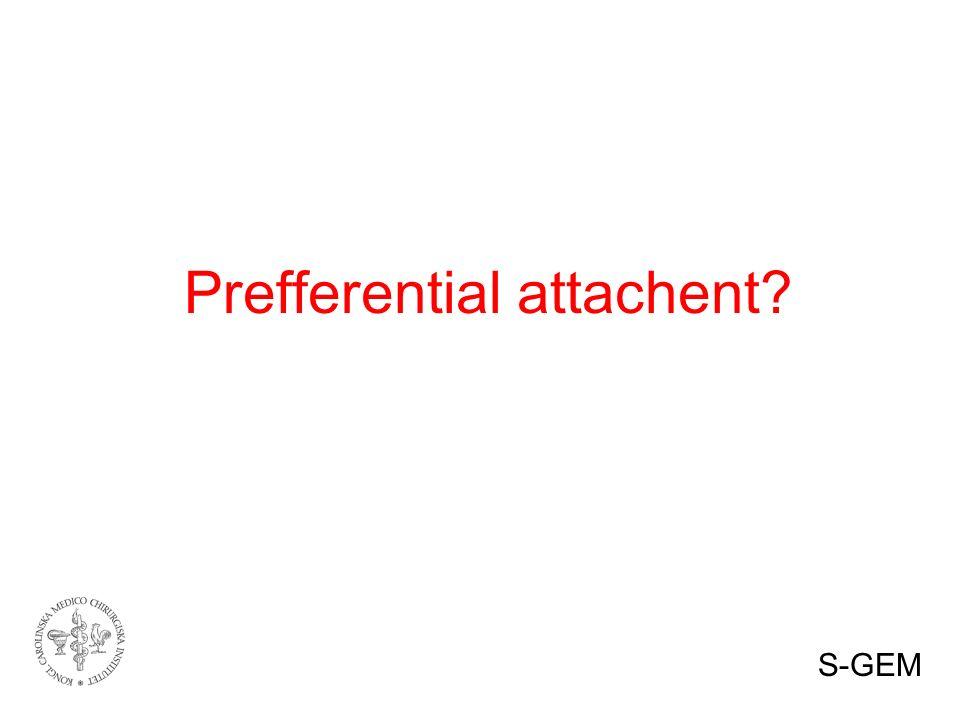 Prefferential attachent S-GEM