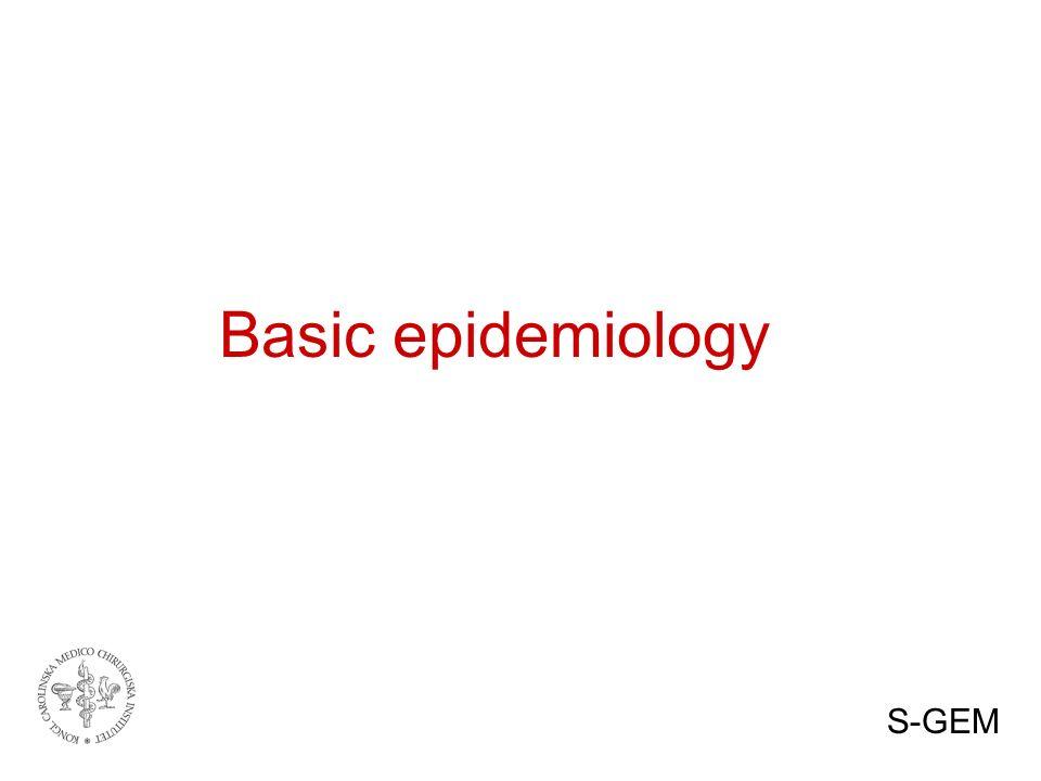 Basic epidemiology S-GEM