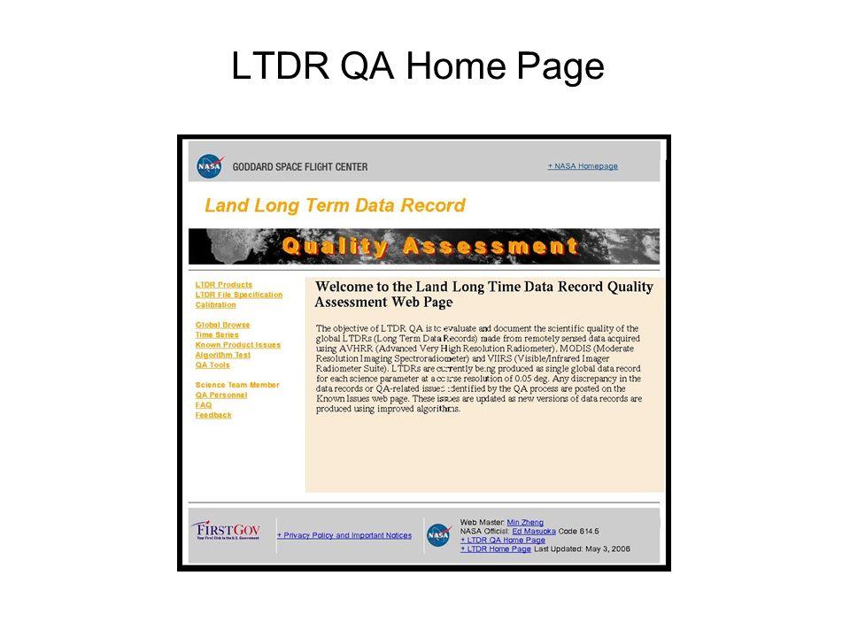 LTDR QA Home Page