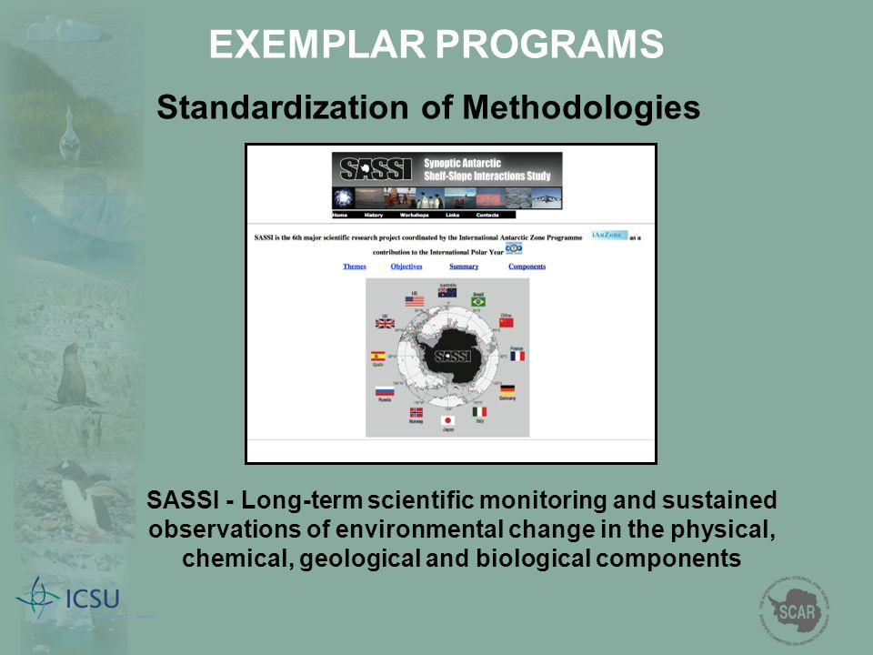 SASSI - Long-term scientific monitoring and sustained observations of environmental change in the physical, chemical, geological and biological compon