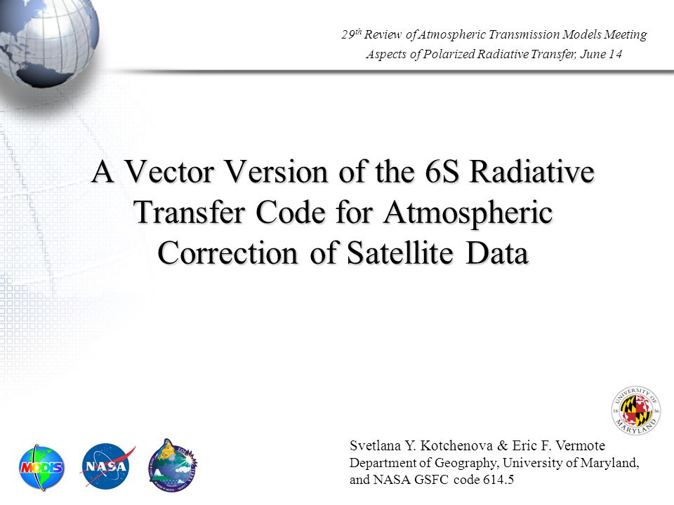 Code Comparison Project (Results) 22 Molecular atmosphere: done Example: TOA reflectances of the codes vs.