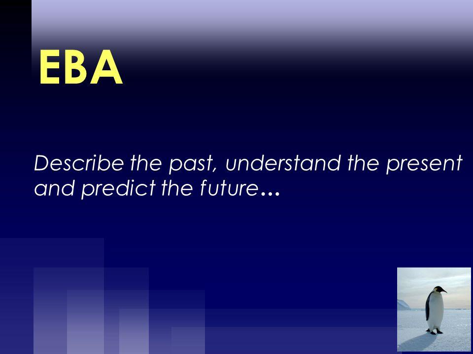 Describe the past, understand the present and predict the future … EBA