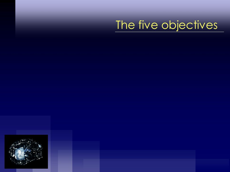 The five objectives