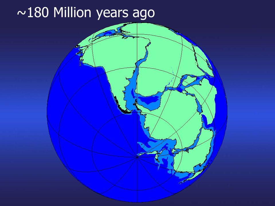 ~180 Million years ago