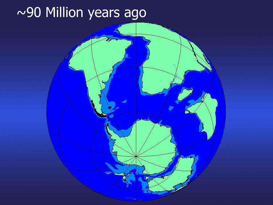 ~90 Million years ago