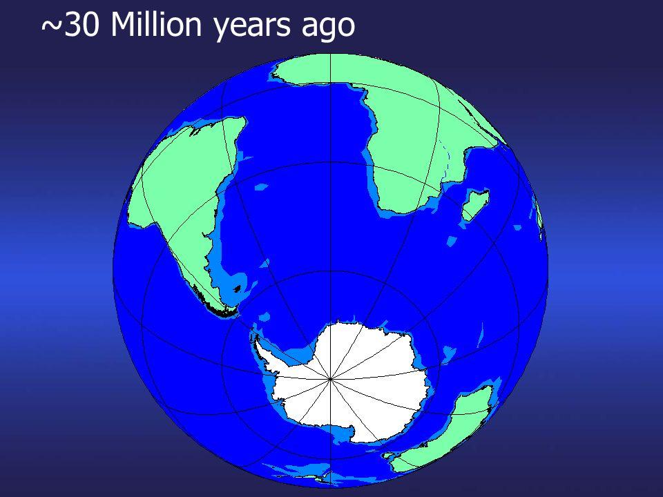 ~30 Million years ago