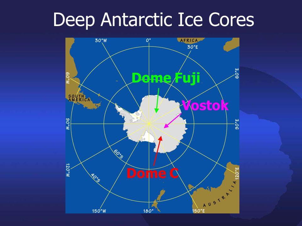 Deep Antarctic Ice Cores Dome Fuji Vostok Dome C