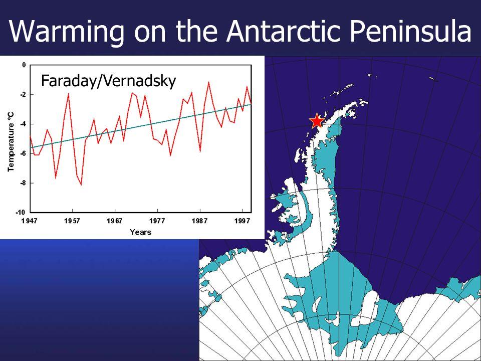 Warming on the Antarctic Peninsula Faraday/Vernadsky