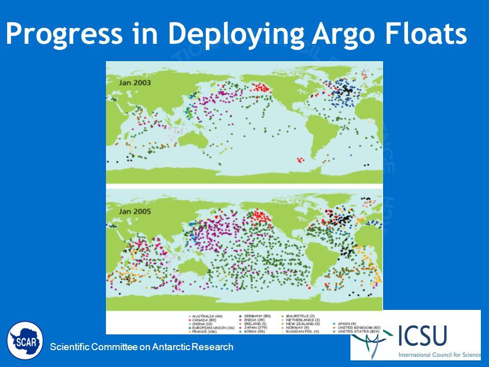Scientific Committee on Antarctic Research Progress in Deploying Argo Floats