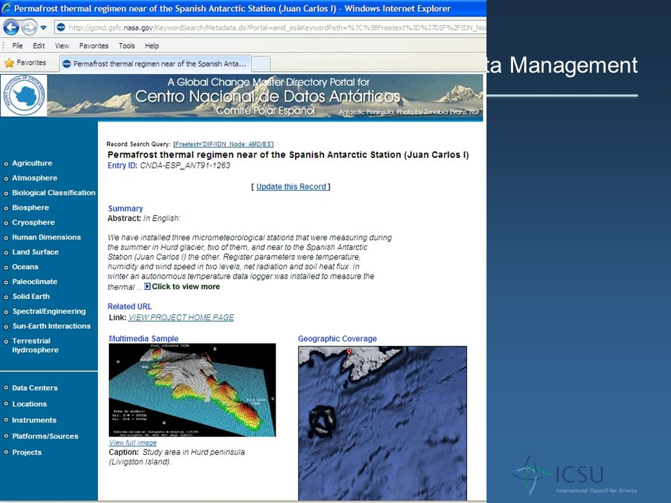 Antarctic Data Management