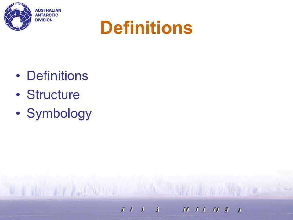 Definitions Structure Symbology